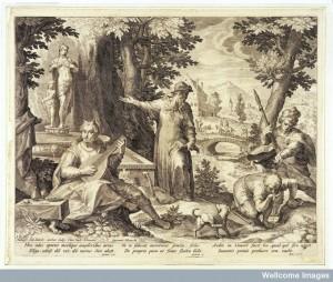 L0031325 Hieronymus Fracastorius (Girolamo Fracastoro) shows the