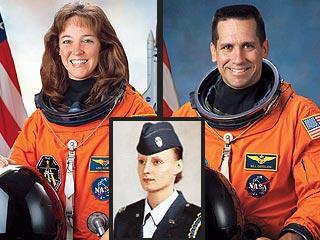 Astronaut woman wears diaper