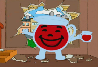 quotOh Yeahquot Top Five Versions of KoolAid Man EVerseKool Aid Breaking Through Wall