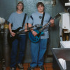 Alec Soth. USA. Grand Rapids, Minnesota. 2002. Kenny & Bill - Bad Newz, garage band. Courtesy of Magnum Photo