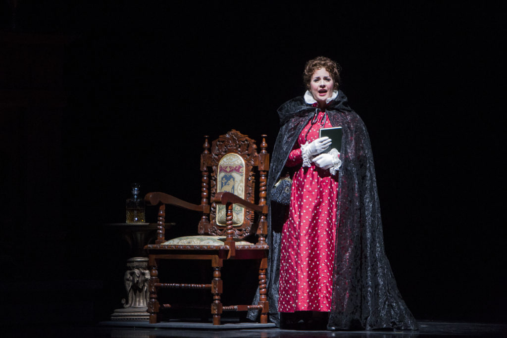 Angela Mortellaro, who appeared with the Dayton Opera in the 2012 production of Donizetti's Lucia di Lammermoor, as Anna, in The Book Collector.