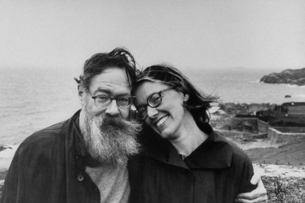 Portrait of American John Berryman (born John Allyn Smith Jr,  1914 - 1972) as he poses with journalist Jane T. Howard (1930 - 1995), Dublin, Ireland, 1967. (Photo by Terrence Spencer/The LIFE Picture Collection/Getty Images)